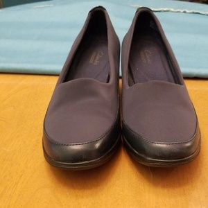 Clarks Collection Navy Wedges Size 8M